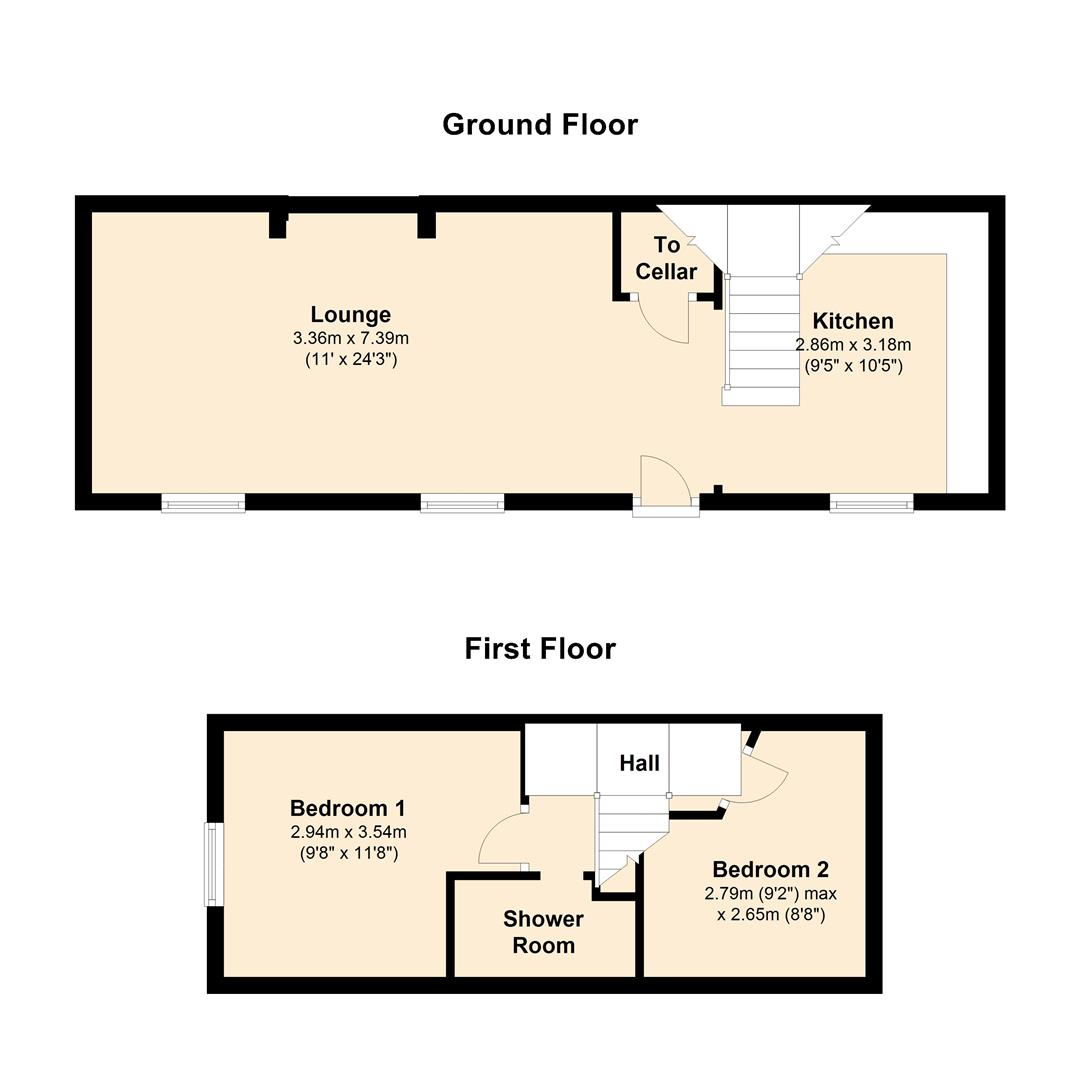 2 Bedroom Cottage For Sale In Norwood Green