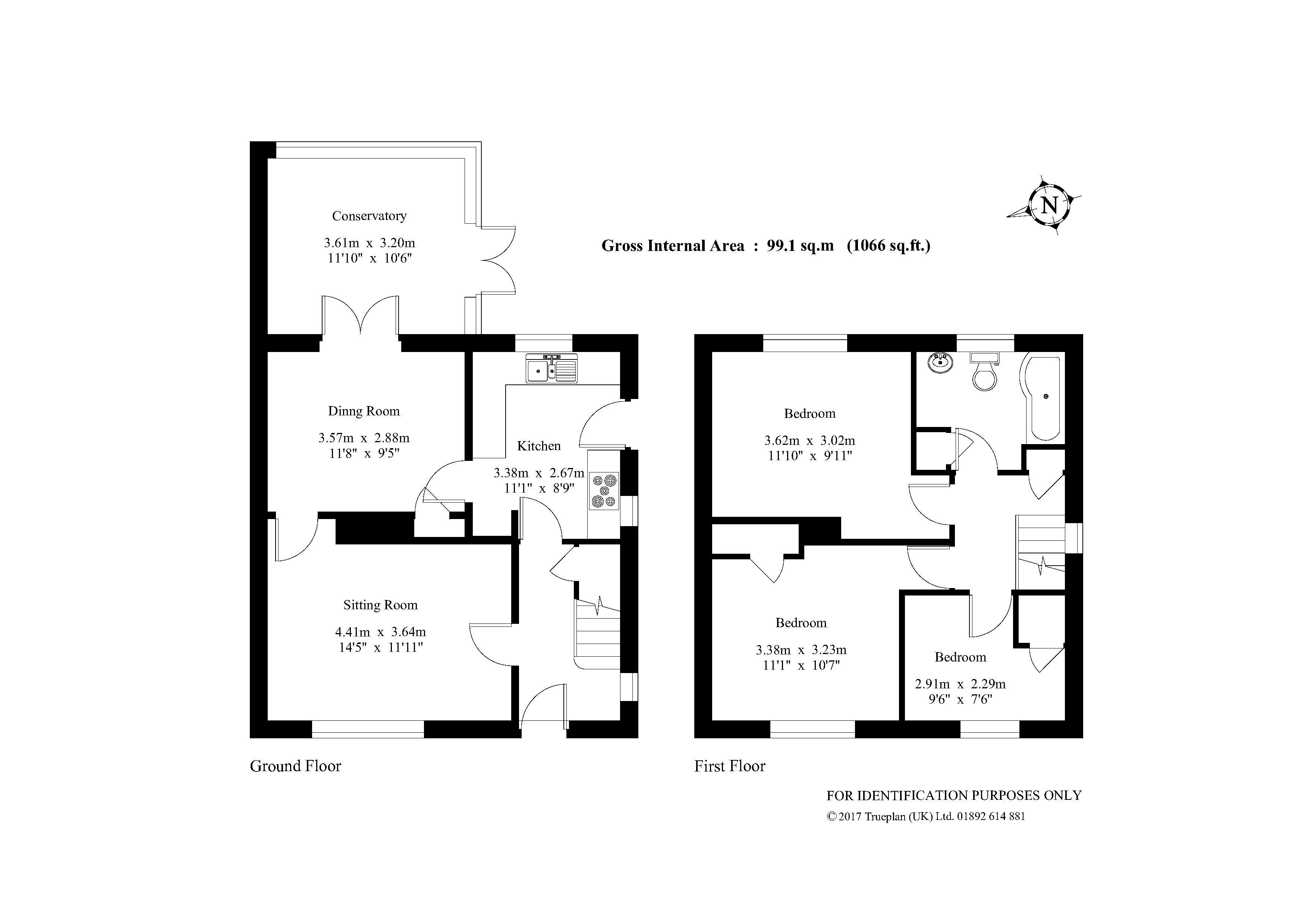 3 Bedroom Semi Det House For Sale In Smallfield