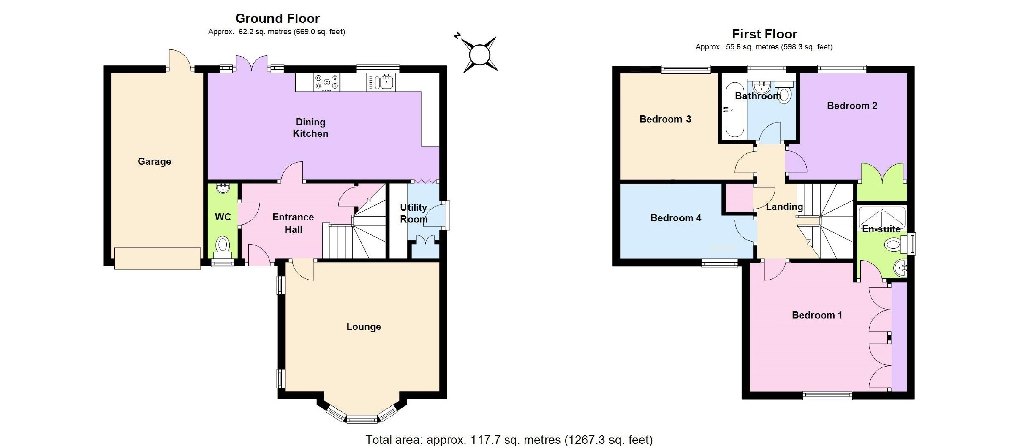 4 bedroom Detached House for sale in Nottingham – Bryant Homes Floor Plans